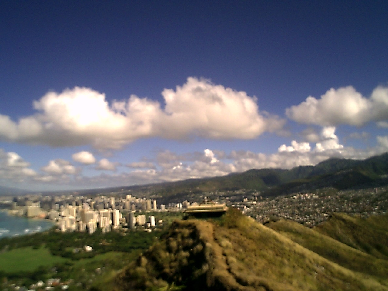 diamond head on honolulu hawaii